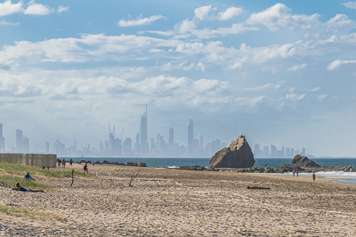 Surfers Paradise viewed from Currumbin
